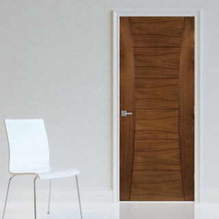 Image: Pamplona Walnut Prefinished Fire Door - 1/2 Hour Fire Rated