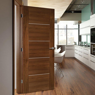 Image: Valencia Walnut Fire Door - 1/2 Hour Fire Rated - Prefinished