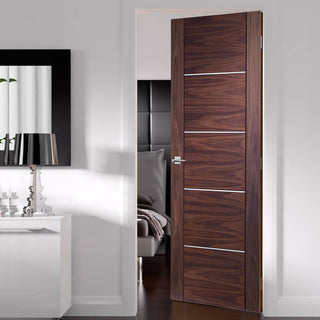 Image: Walnut veneer interior flush door