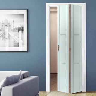Image: Limelight Mistral White Primed Flush Bifold Door