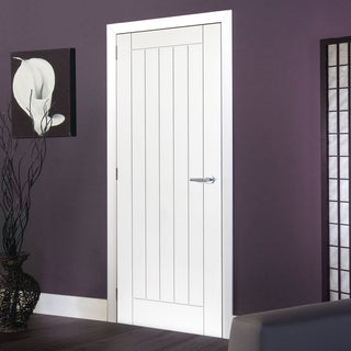 Image: Limelight Savoy White Primed Flush Door