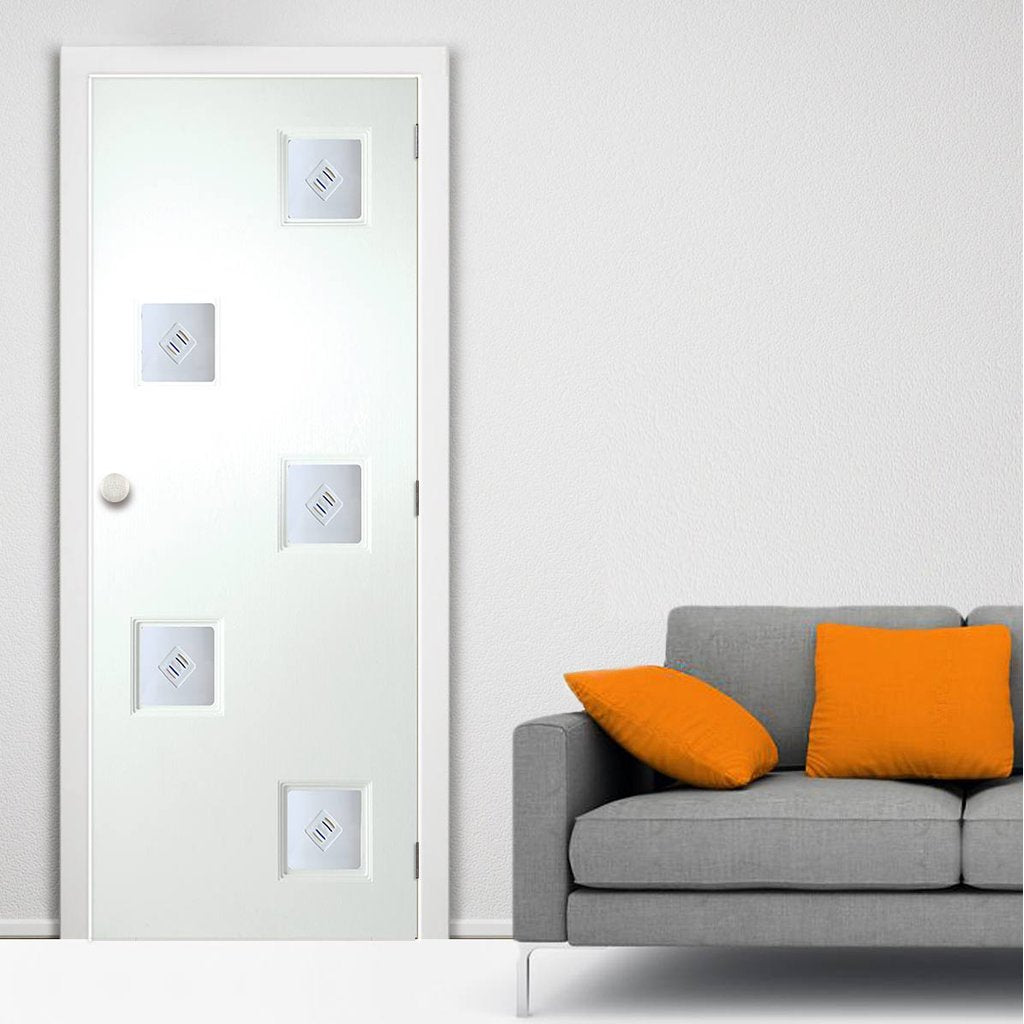 White PVC contemporary internal door charlotte fusion 1
