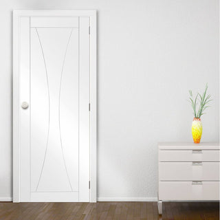 Image: Bespoke Verona Flush Door - White Primed - From Xl Joinery