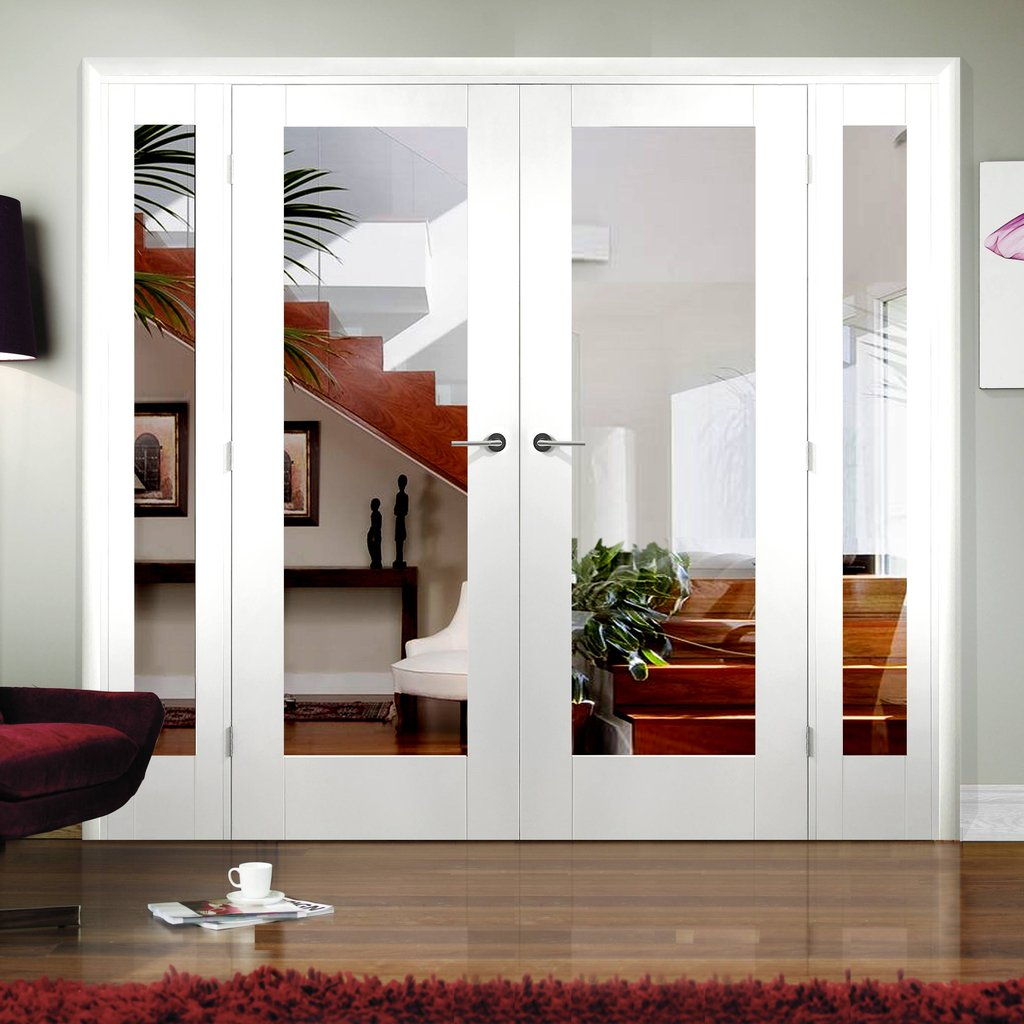 Easi-Frame White Door Set - GWPP10-COEOP2 - 2005mm Height - 2062mm Wide.