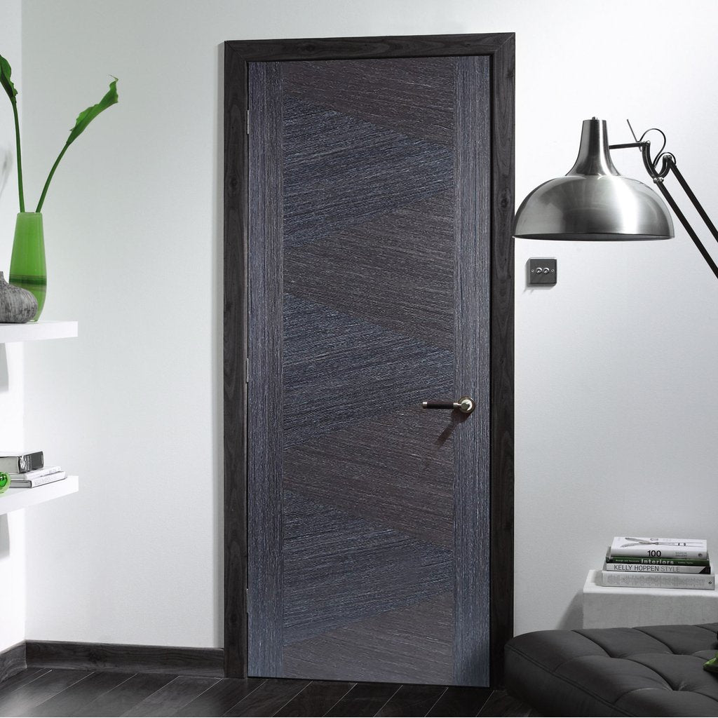 Zeus Ash Grey Flush Fire Door - 1/2 Hour Fire Rated - Prefinished