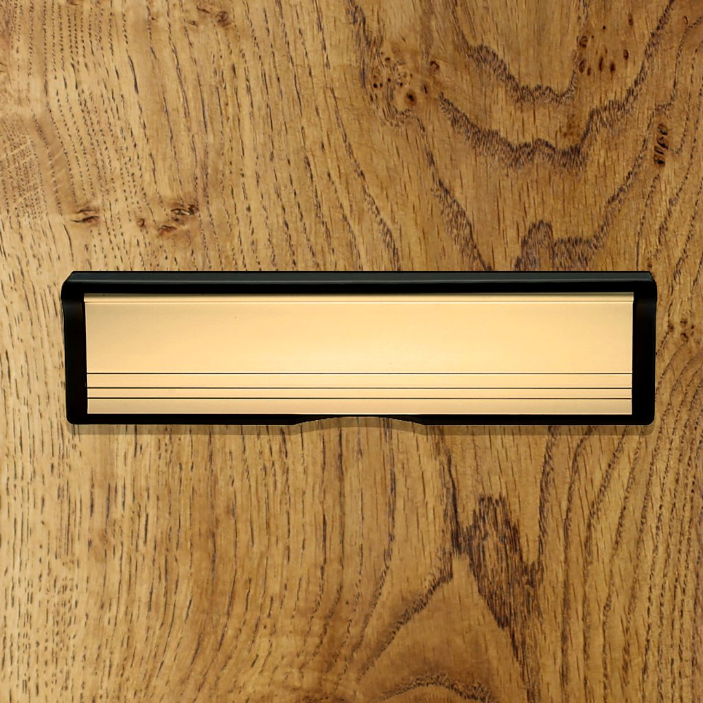 Brass 255mm: Intumescent Letterbox 255mm Size and 5 Colour Options