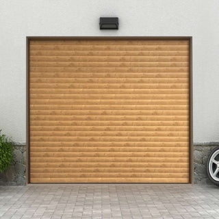 Image: Gliderol Electric Insulated Roller Garage Door from 1900 to 2134mm Wide - Irish Oak