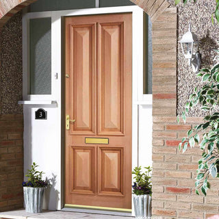 Image: Islington 4 Panel Exterior Hardwood Door