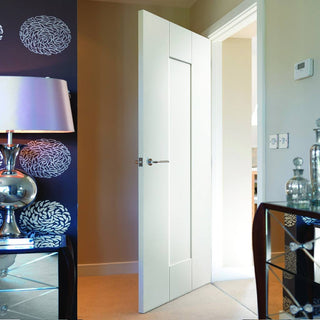 Image: JBK Symmetry Axis White Primed Panel Door