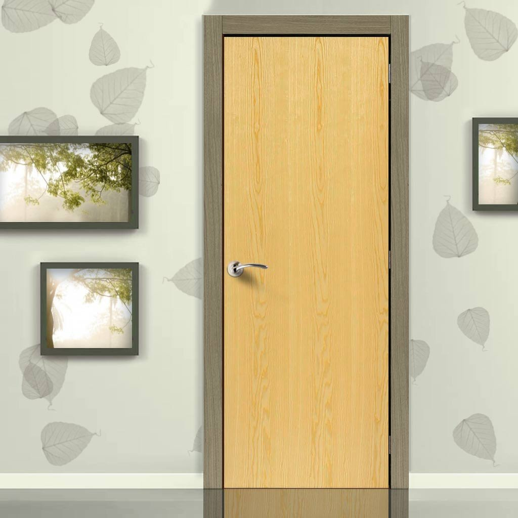 J B Kind Ash Veneered Flush Fire Door - 1/2 Hour Fire Rated - Prefinished