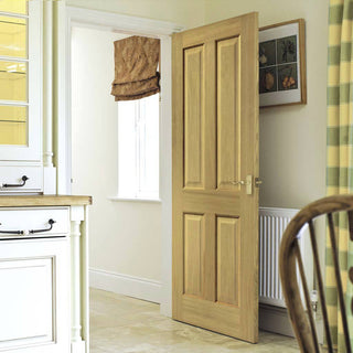 Image: Sherwood Oak 4 Panel Door - Prefinished