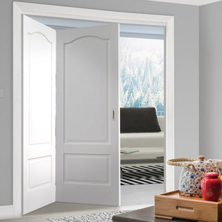 Image: Thrufold Kent 2 Panel 2+0 Folding Door - White Primed