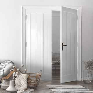 Image: Kielder Lightly Grained PVC Door Pair