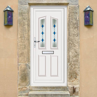 Image: Exterior PVCu Kishorn Two Blue Diamond Door