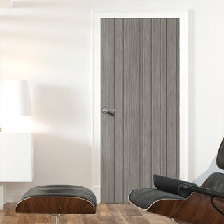 Image: Laminate Montreal Light Grey Door - 30 Minute Fire Rated - Prefinished