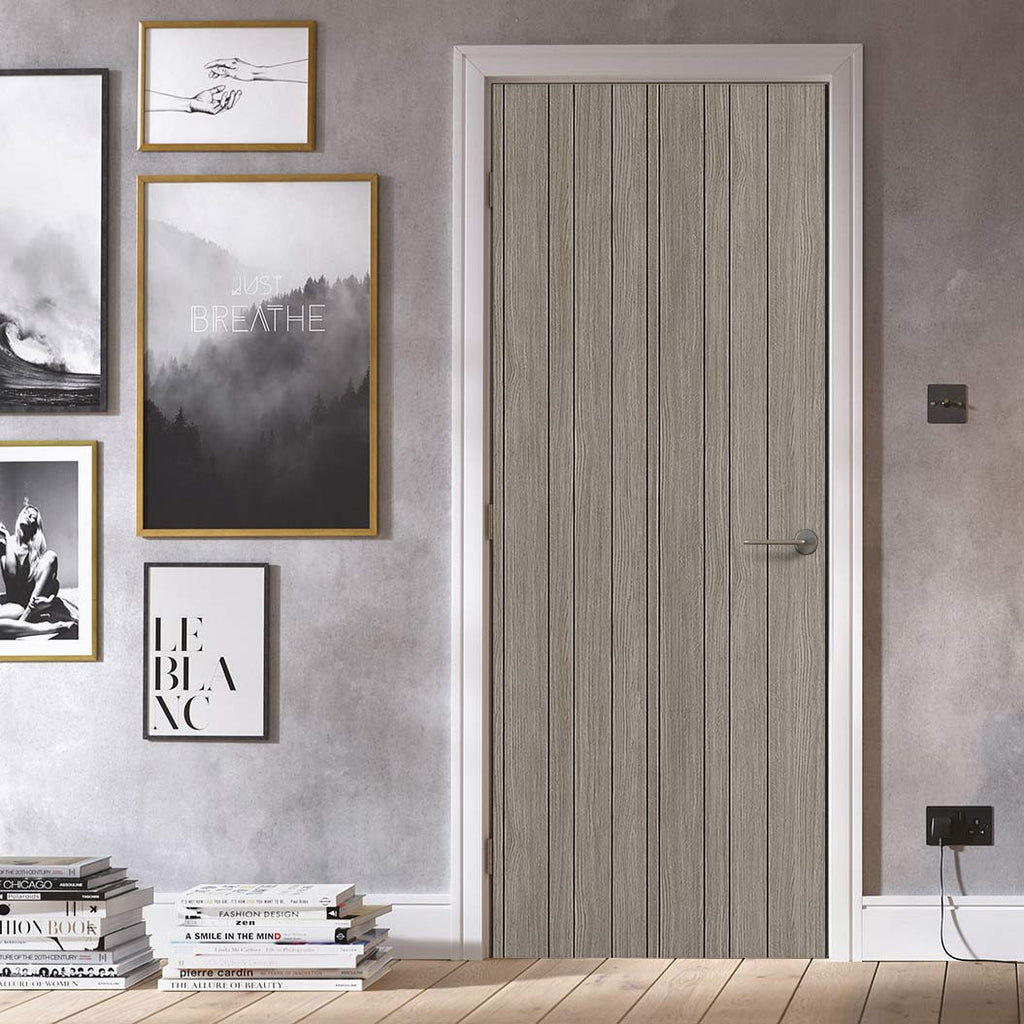 Laminate Montreal Light Grey Door - Prefinished