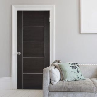 Image: Modern flush grey colour interior door