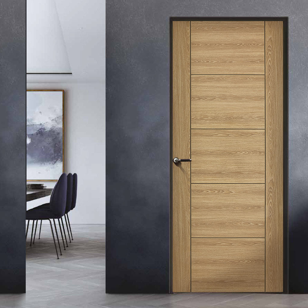 Laminate Vancouver Oak Colour Door - 30 Minute Fire Rated - Prefinished