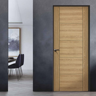 Image: Laminate Vancouver Oak Colour Door - 30 Minute Fire Rated - Prefinished