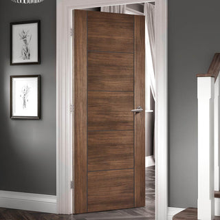 Image: Laminate Vancouver Walnut Fire Door - 1/2 Hour Fire Rated - Prefinished