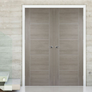Image: Laminate Vancouver Light Grey Door Pair - Prefinished