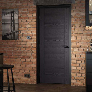 Image: Laminate Vancouver Black Door - 30 Minute Fire Rated - Prefinished
