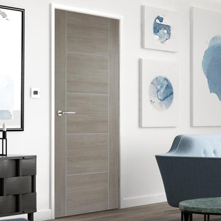 Image: Laminate Vancouver Light Grey Door - Prefinished