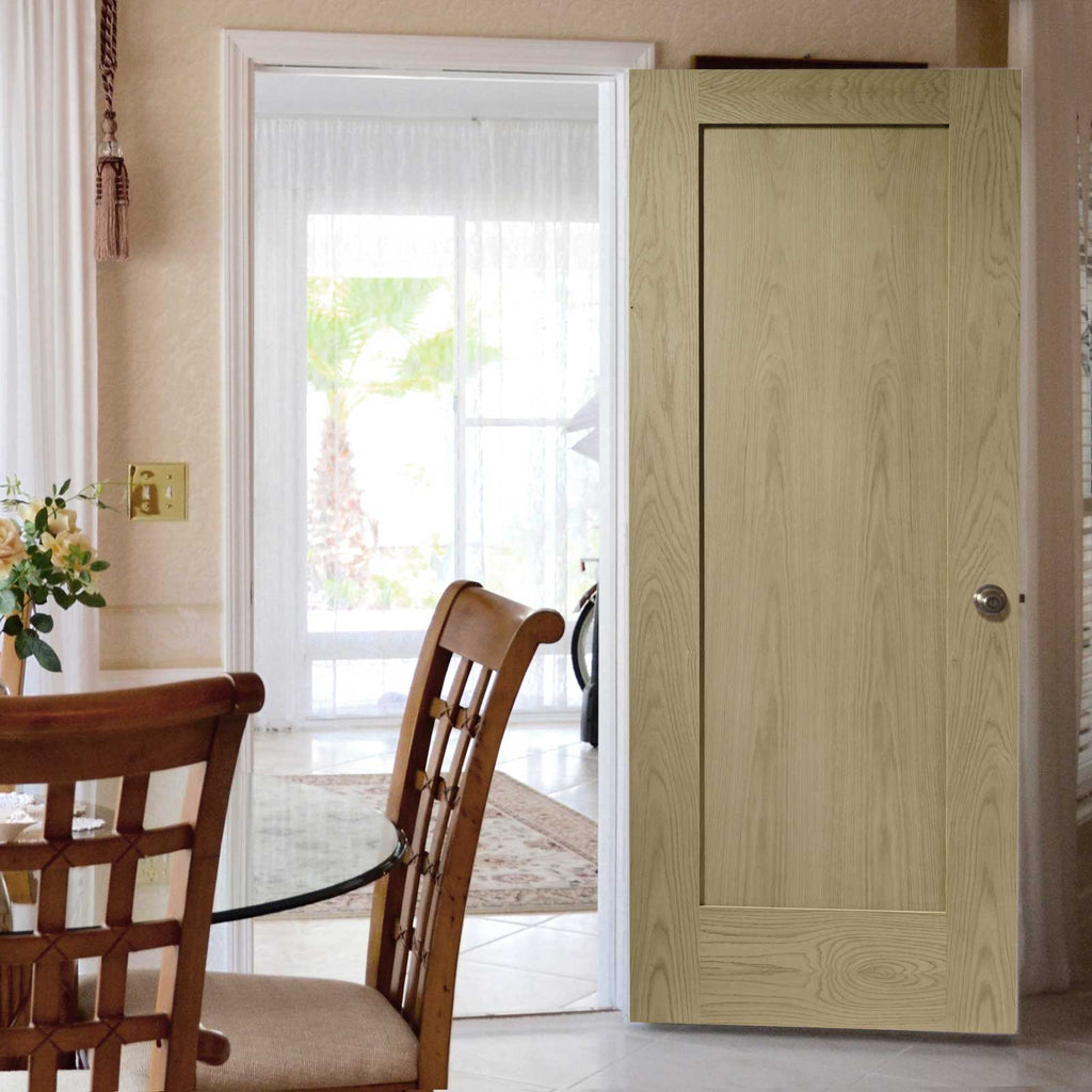 prefinished bespoke pattern 10 oak 1 panel door