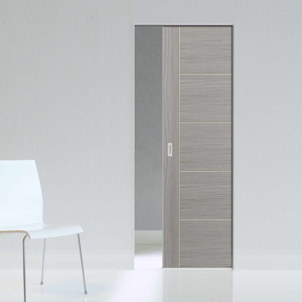 Laminates Lava Painted Absolute Evokit Pocket Door - Prefinished