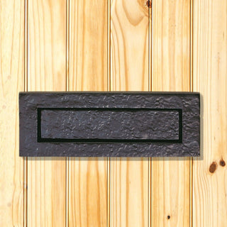 Image: Antique Black Ludlow LF5524 Letterbox - Size 268x91mm