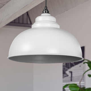 Image: Light Grey Full Colour Harborne Pendant Ceiling Light Fitting