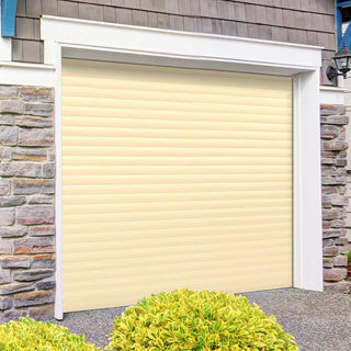 Image: Gliderol Electric Insulated Roller Garage Door from 1900 to 2134mm Wide - Light Ivory
