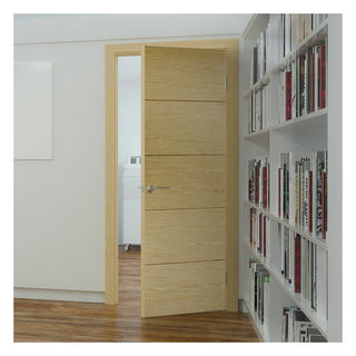 Image: Lille Oak Solid Internal Door - Prefinished