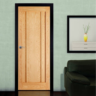 Image: LPD Joinery Fire Door, Lincoln 3 Panel Oak - 1/2 hour Fire Rated