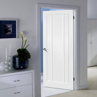 Image: Lincoln 3 Panel Door - White Primed
