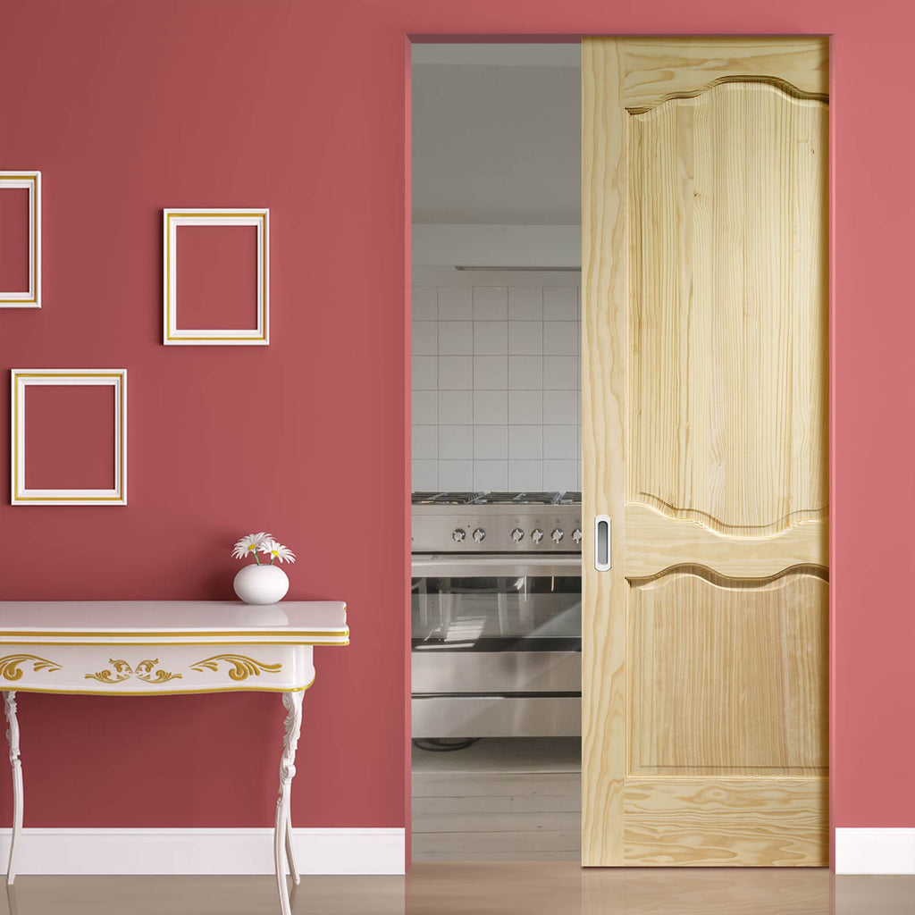 Louis Clear Pine Absolute Evokit Pocket Door