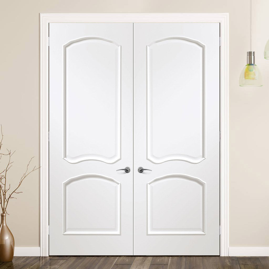 Louis White Door Pair - Prefinished