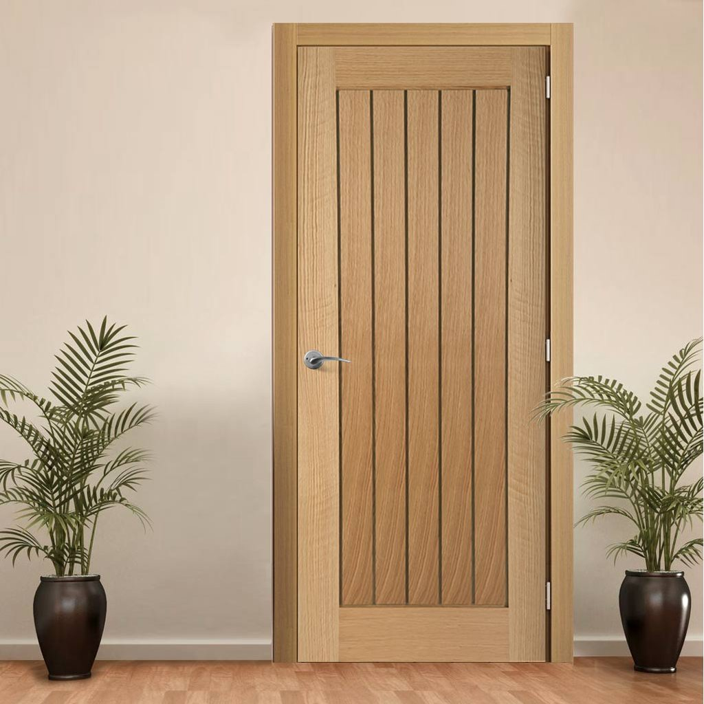 door set kit mexicano oak door vertical lining