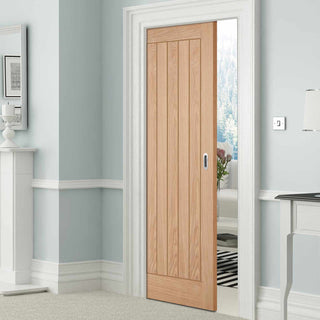 Image: Belize Oak Single Evokit Pocket Door