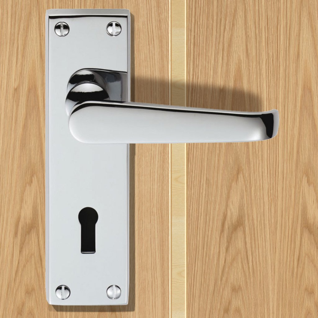 M30 Victorian Suite Lever Lock Door Handles - 3 Finishes