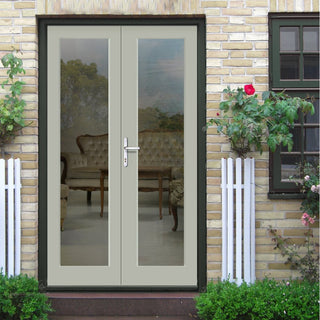 Image: Made to Order Exterior Pattern 20 Style Door Pair - Fit Your Own Glass