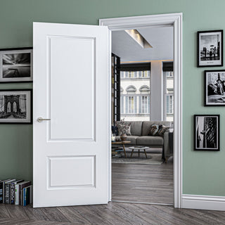 Image: Madison White Primed Panel Door