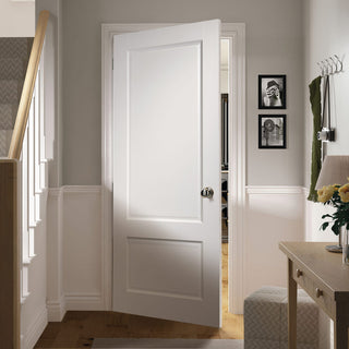 Image: Madison White Primed Panel Fire Door - 1/2 Hour Fire Rated