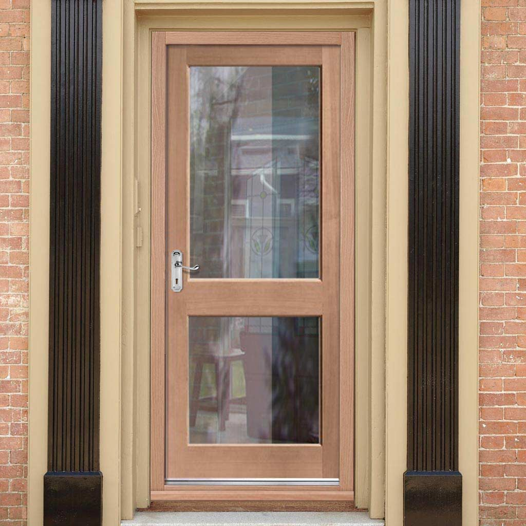 Mahogany 2XGG Exterior Door - Toughened Double Glazing