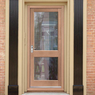 Image: Mahogany 2XGG Exterior Door - Toughened Double Glazing