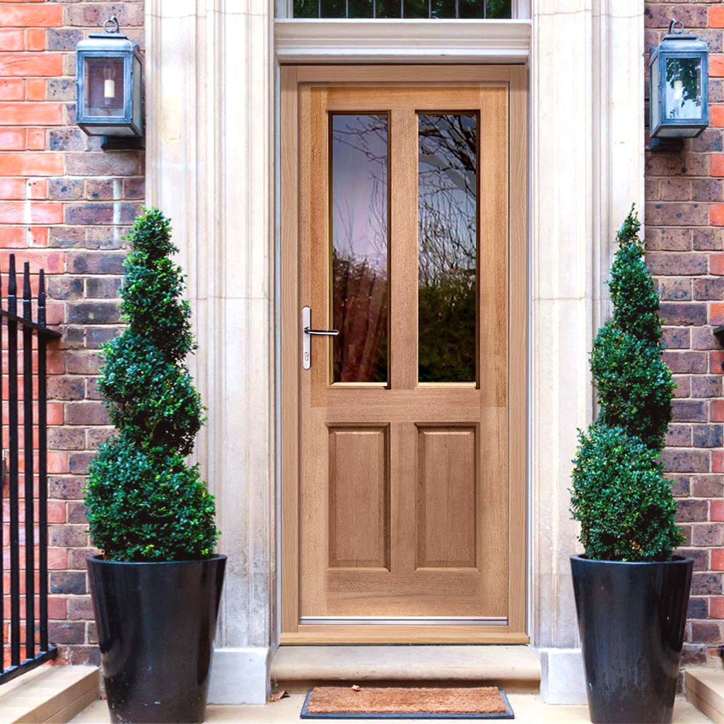 Malton Sterling Hardwood Door - Fit Your Own Glass., From LPD Joinery