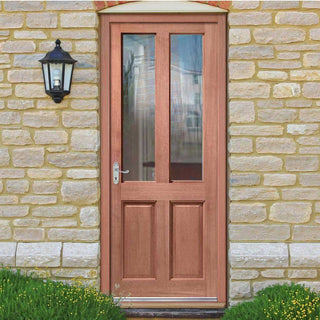 Image: Malton Sterling Hardwood Door - Toughened Double Glazing