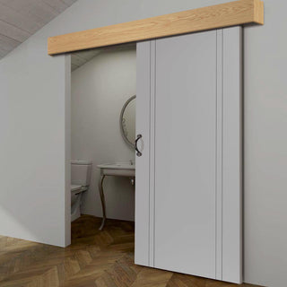 Image: Thruslide Oak Veneer Pelmet Kit for Sliding Doors