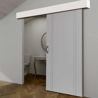 Image: Thruslide White Pelmet Kit for Sliding Doors