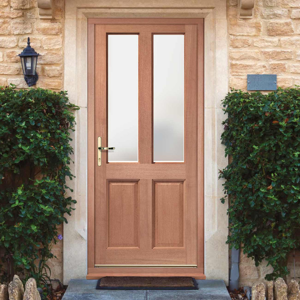 Malton External Hardwood Door and Frame Set - Frosted Double Glazing, From LPD Joinery